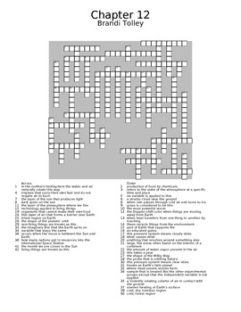 Science Review Crossword
