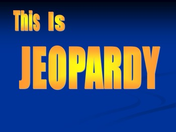Science Review Jeopardy