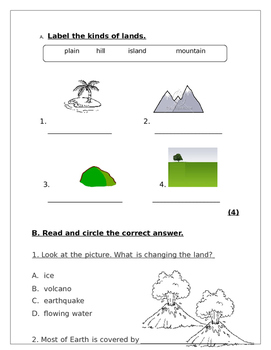 Science Review: Landforms, All about animals and plants and Seasons