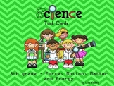 Science Review - Task Cards (5th grade) - Force, Motion, M