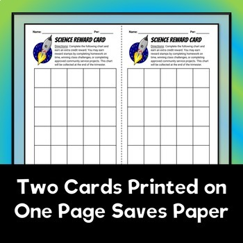 Science Reward Cards - FREE DOWNLOAD!