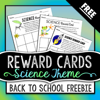 Science Reward Cards - FREE DOWNLOAD!