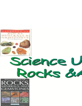 Science Rocks And Minerals Study Printable Banner Poster Sign!
