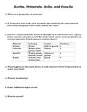 Science: Rocks, Minerals, Soils, & Fossils 3rd Grade Worksheet