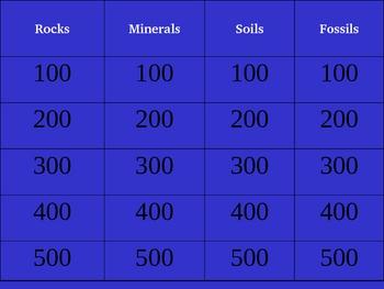 Science: Rocks, Minerals, Soils, & Fossils Trivia Game Version 1