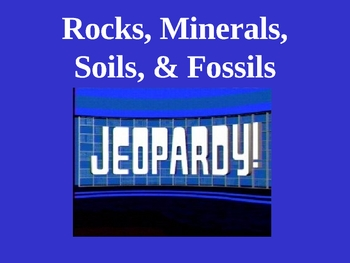 Science: Rocks, Minerals, Soils, and Fossils Trivia Game Version 2