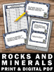 Rocks and Minerals SCOOT, Earth Science Review Games & Activities