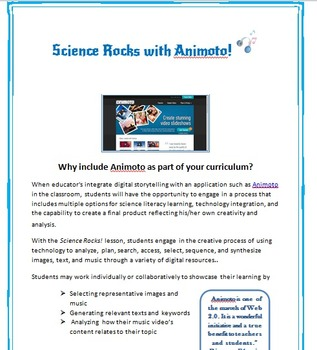 Science Technology Project for ANY Middle School/High School Science Unit