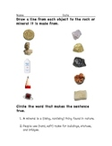 Science: Rocks and Minerals Assessment Worksheet Primary Level FREE