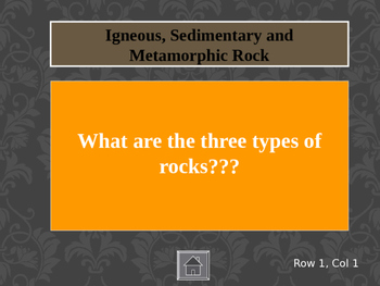 Science: Rocks and Minerals Jeopardy/ End of Year Review Fun