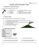Science: Rocks and Minerals - Unit Test