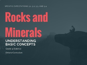 Science - Rocks and Minerals - grade 4 (Understanding Basic Concepts)