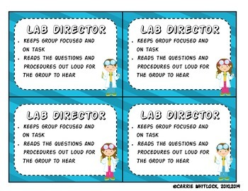 Science Role Cards Freebie!