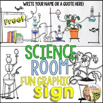 Science Room Sign Printable Free