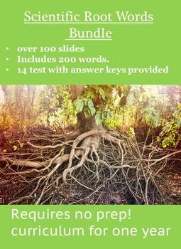Science Root Words - Year Long Bundle