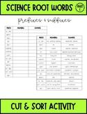 Science Root Words - Prefixes & Suffixes