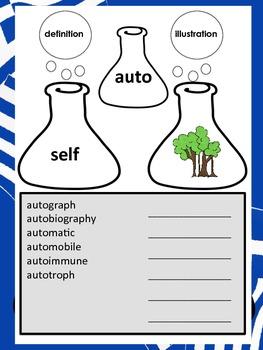 Science Roots-Prefix & Suffixes
