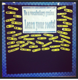 Science Roots for Bulletin board or Word Walls