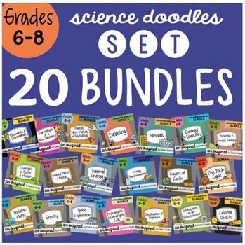 20 BUNDLE SET Grades 6 - 8, ALL YEAR, for a savings of 25%