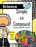 Science- SIMPLE and COMPOUND machines vocabulary game