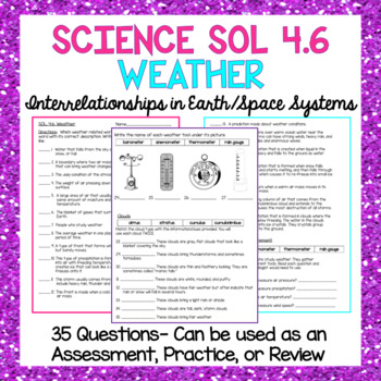 Science SOL 4.6 Weather