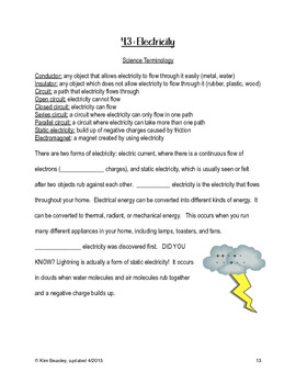 Science SOL 4.3 Electricity Review