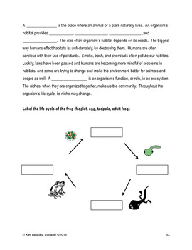 Science SOL 4.5 Ecosystems Review