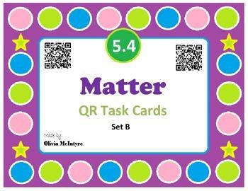 Science SOL 5.4 Matter QR Code Task Cards - 20 in set!