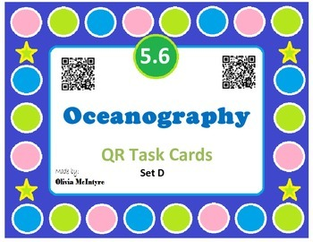 Science SOL 5.6 Oceanography QR Code Task Cards - 24 in set!