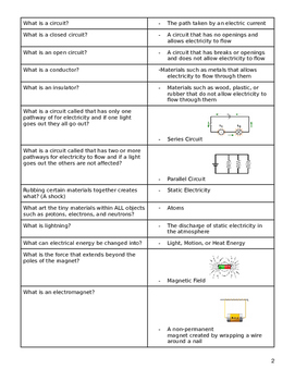 Science SOL Review Packet/Flash cards
