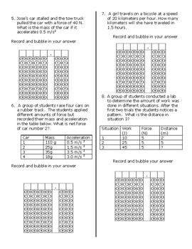 Science STAAR Calculations and Griddable Practice