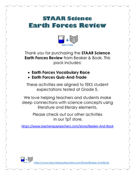 Science STAAR Earth Forces Review