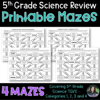 Science STAAR Review Mazes