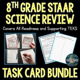 8th Grade Science STAAR Review Task Cards Bundle - Distance Learning