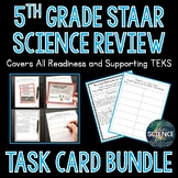 5th Grade Science STAAR Review Task Cards Bundle - Distance Learning