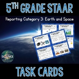 Science STAAR Review Task Cards - Earth and Space - 5th Grade