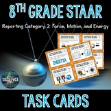 Science STAAR Review Task Cards - Force, Motion, and Energy