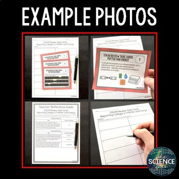 Science STAAR Review Task Cards - Matter and Energy - 5th Grade