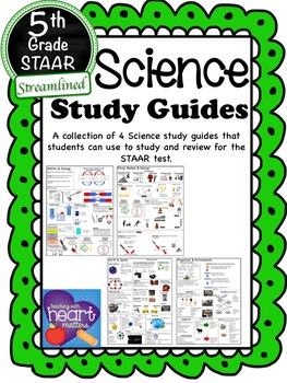 Science STAAR Study Guides (Streamlined to new Science TEKS)