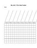 Science STAAR Unit 1 Data Tracker for Students (Editable)
