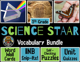 Science STAAR Vocabulary-Word Wall, Puzzles, Interactive N