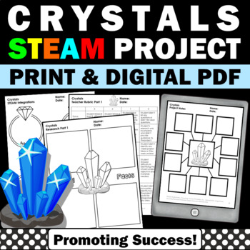 Growing Crystals STEM Project Based Learning Science Distance Learning Packet
