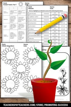 Project Based Learning Science STEAM Activities, Plants Unit