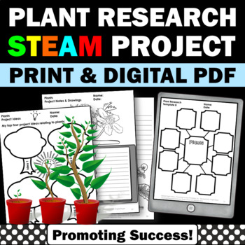 Plants STEM Research Project Based Learning Science Distance Learning Packet
