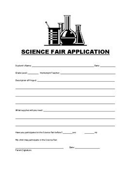 Science/STEAM/STEM Fair Application