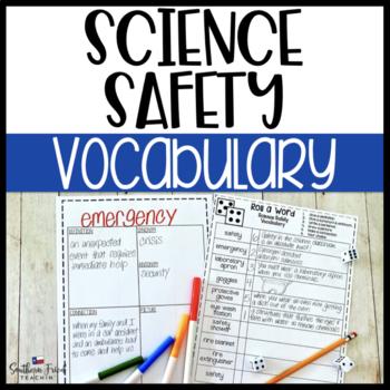 Science Safety Fun Interactive Vocabulary Dice Activity EDITABLE