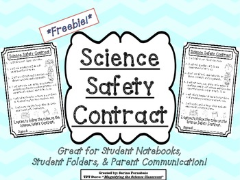 Science Safety Contract Freebie