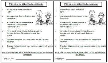 Science Safety Contract (Spanish)