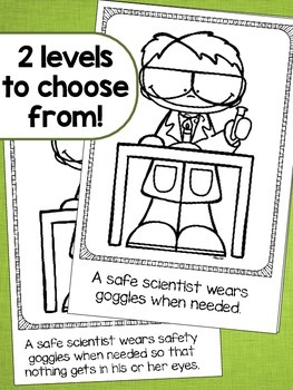 Science Safety  Emergent Reader - 2 Levels Included!
