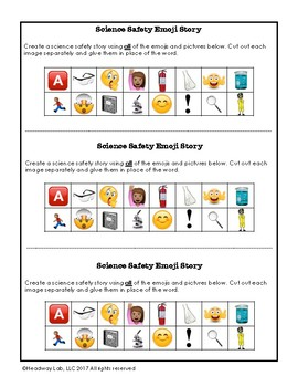 Science Safety Emoji Writing Prompt